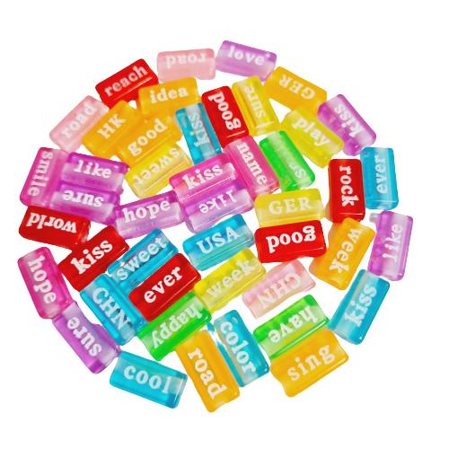 Plaquinhas Divertidas com Palavras em Inglês Coloridas Gelatinosas