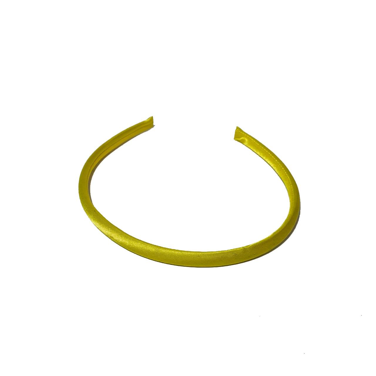 Tiara de Cetim Amarela