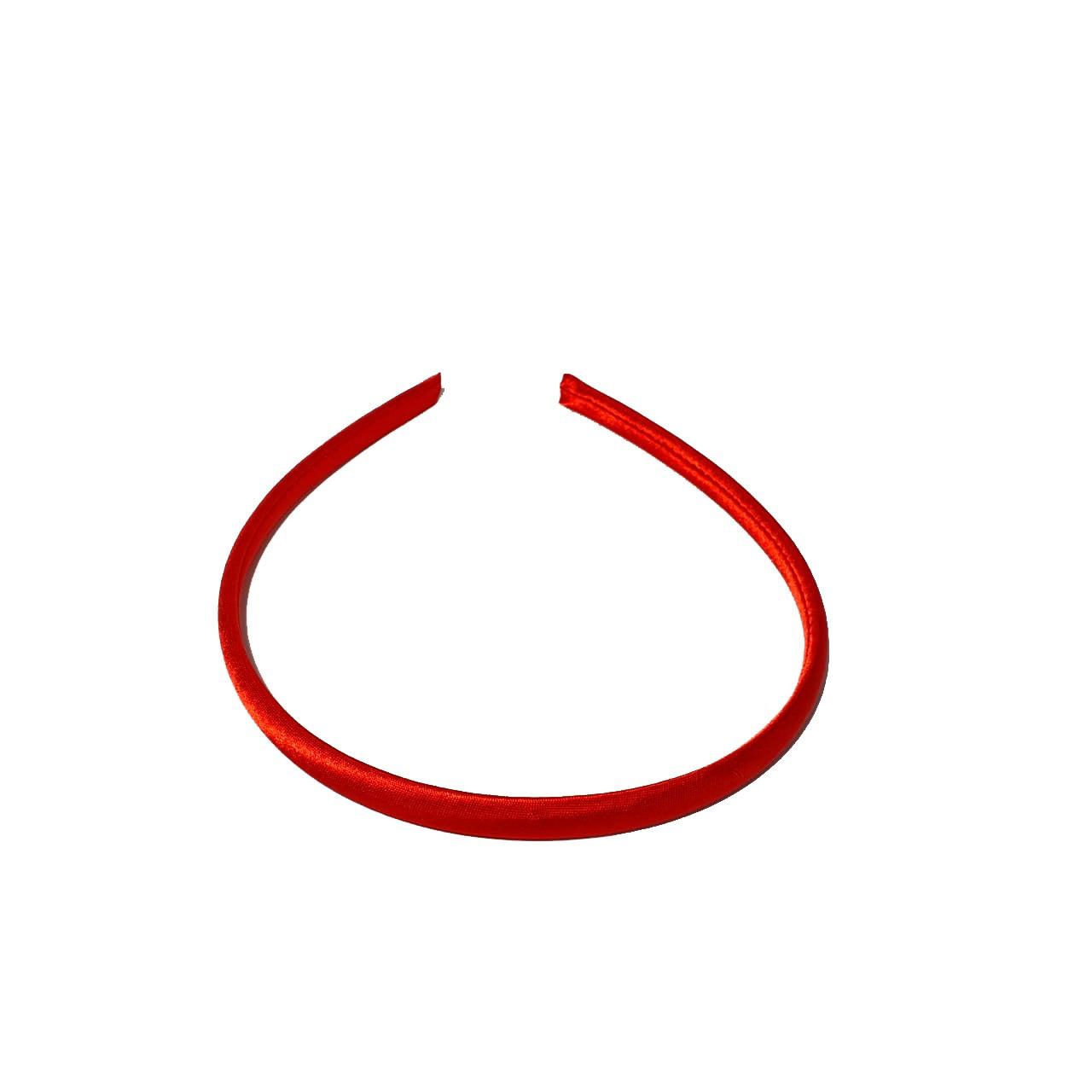 Tiara de Cetim Vermelha