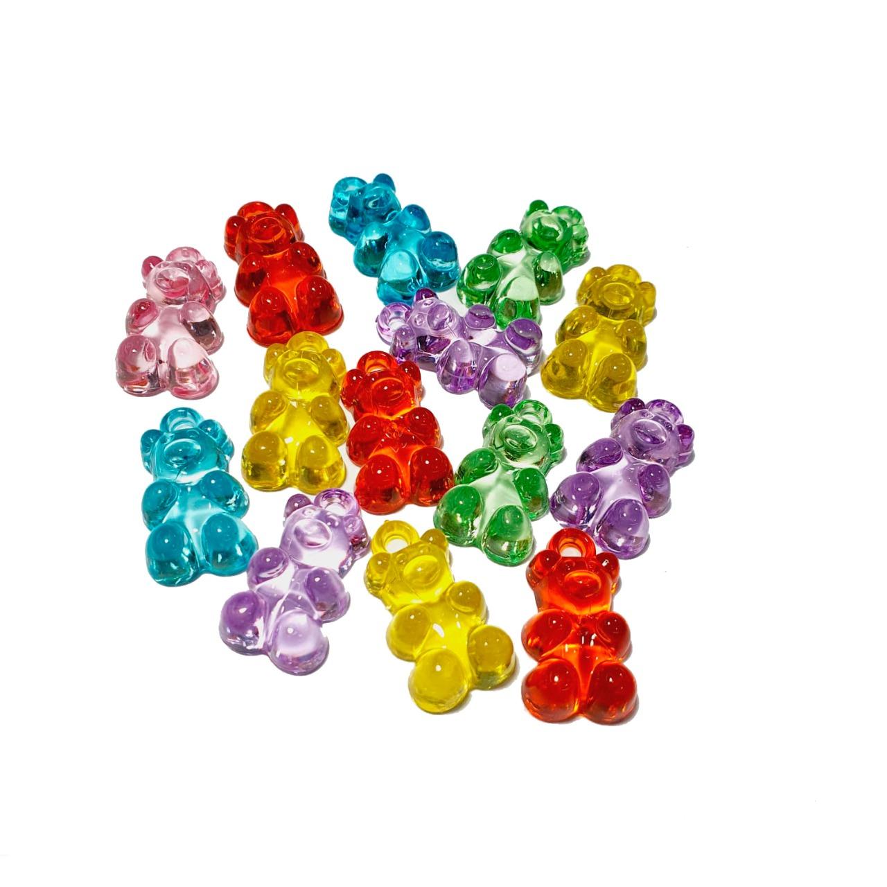 Ursinhos de Acrílico Coloridos