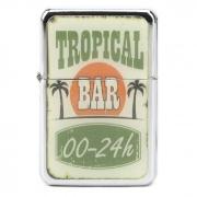 Isqueiro Star Cromado - Tropical Bar (1 Face)