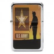 Isqueiro Star Cromado - U.S Army 2 (1 Face)