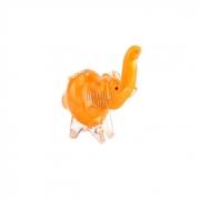 Pipe de Vidro Animale - Elefante Laranja 01