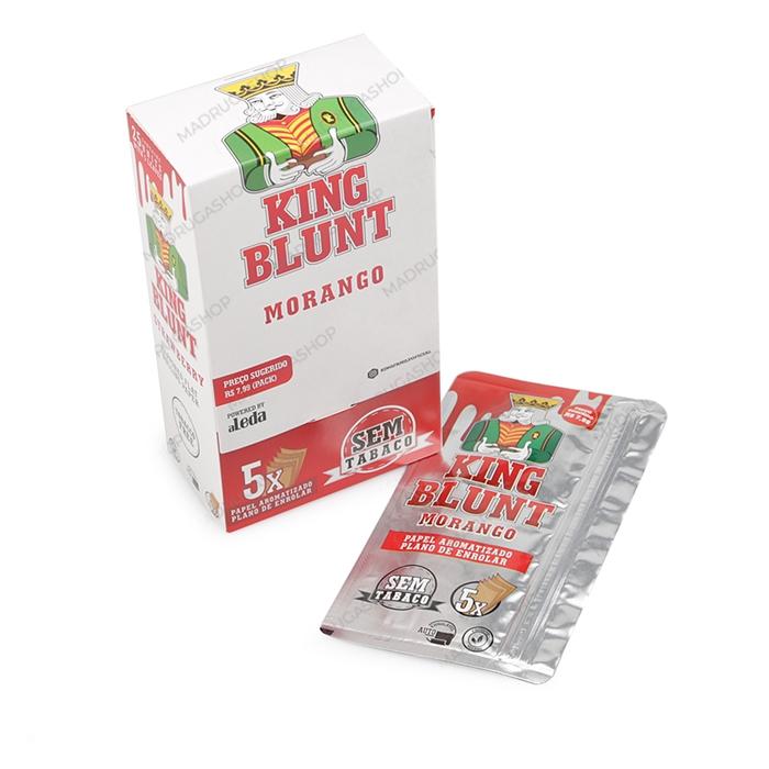 Blunt King Morango (Sem Tabaco) - Caixa com 25