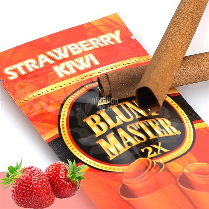 Blunt Master Morango e Kiwi - Pacote com 2