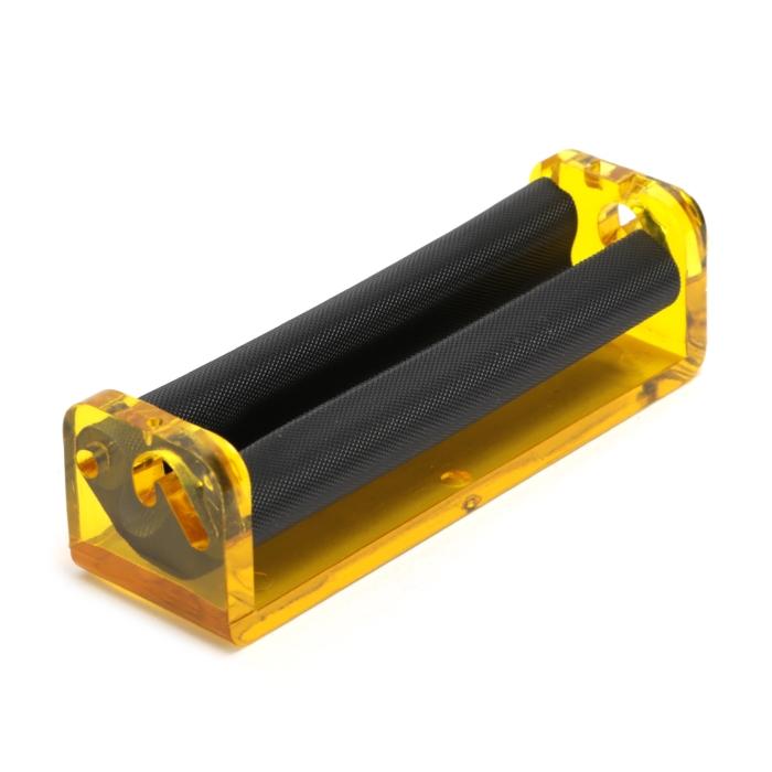 Bolador de Cigarro Single Wide (70mm) - Amarelo