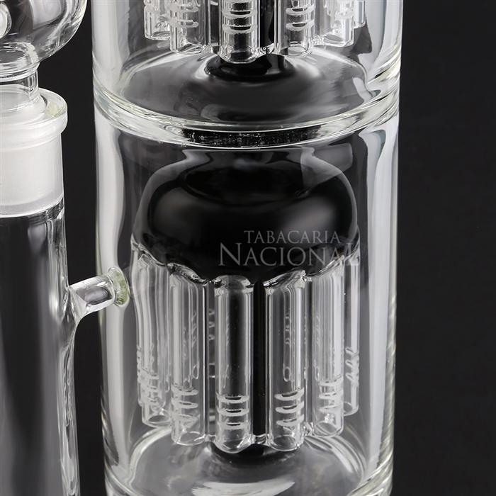 Bong de Cristal Ice Ganesh (Double Percolator) HH1213 - Preto