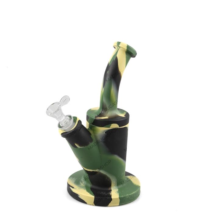Bong de Silicone 06 - Verde Exército