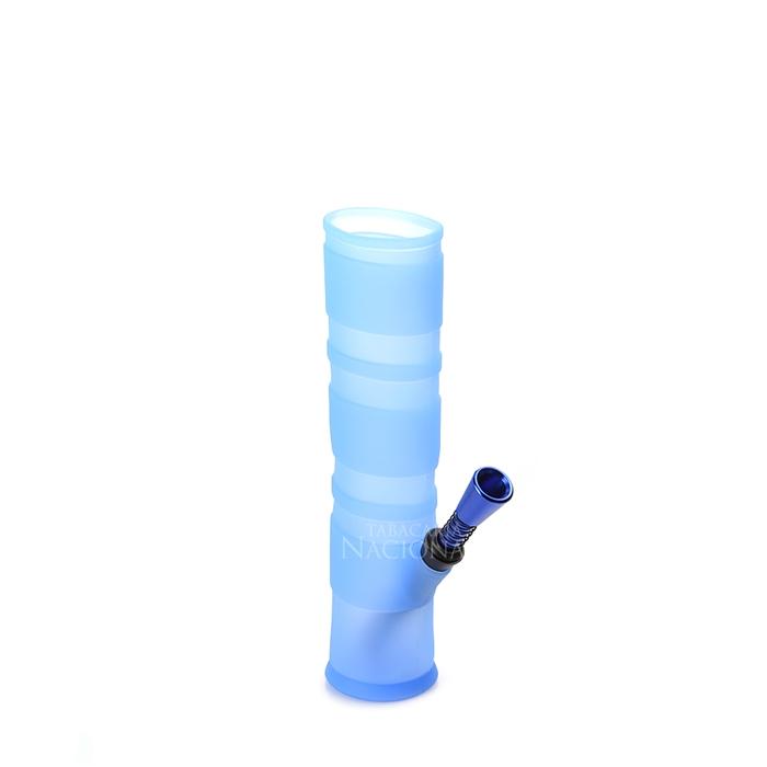 Bong de Silicone Dobrável - Azul