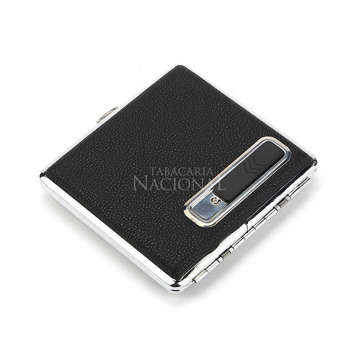 Cigarreira com Isqueiro Eletrônico USB