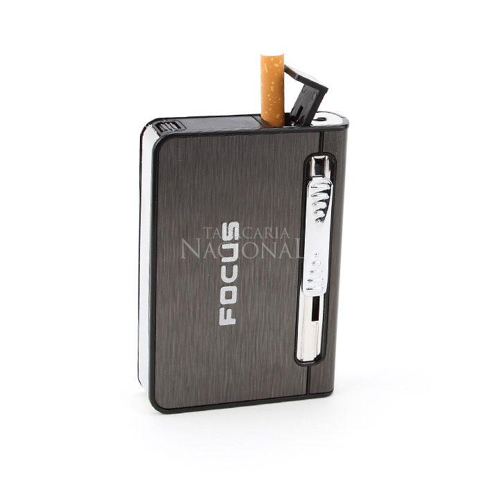 Cigarreira com Isqueiro Maçarico - Focus