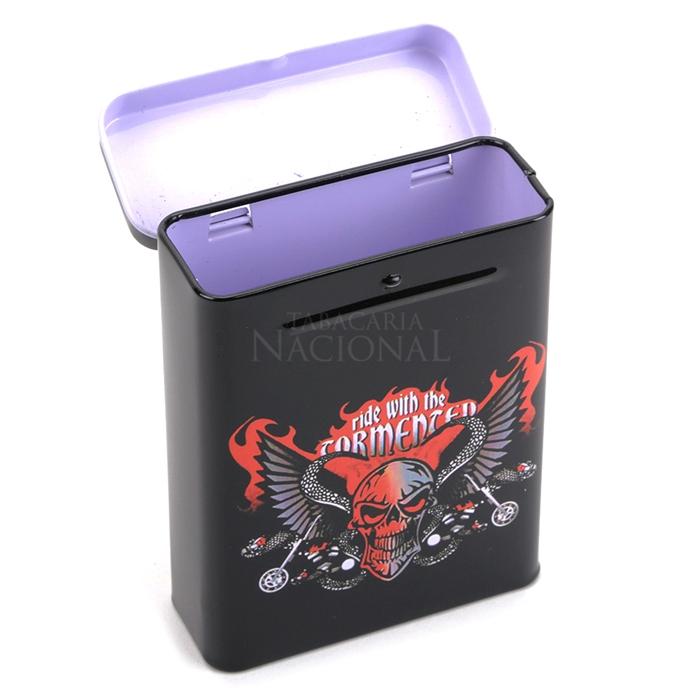 Cigarreira de Metal (Tin Case) - Caveira Asas
