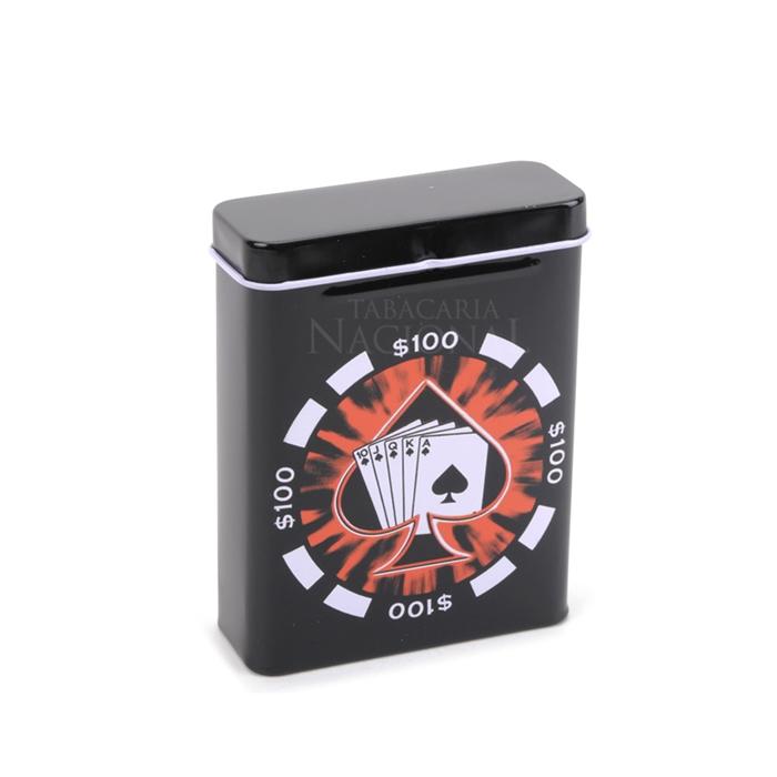 Cigarreira de Metal (Tin Case) - Royal Flush