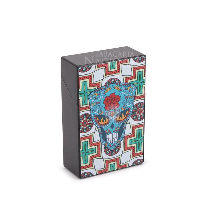 Cigarreira de Plástico - Caveira Mexicana 4´