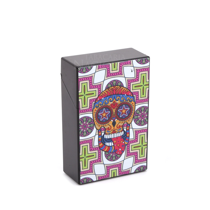 Cigarreira de Plástico - Caveira Mexicana 6´´
