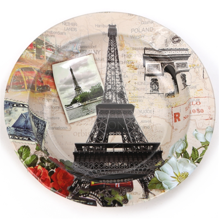 Cinzeiro de Alumínio para 4 Cigarros - Torre Eiffel