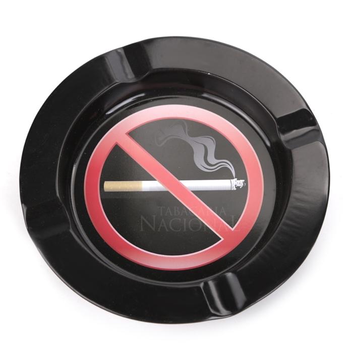 Cinzeiro de Alumínio para Cigarro - Proibido Fumar