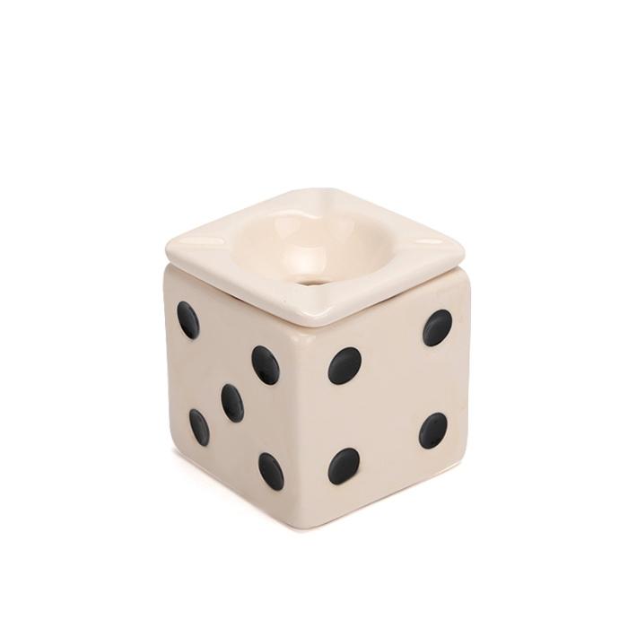 Cinzeiro de Cerâmica para 4 Cigarros Pequeno - Dado Branco 2