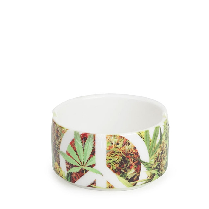 Cinzeiro de Porcelana para 2 Cigarros - Peace & Weed