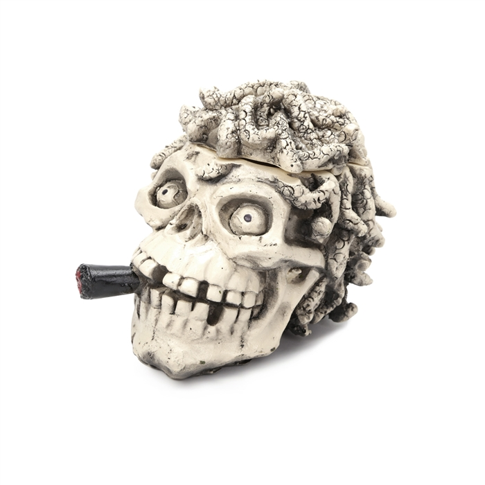 Cinzeiro de Resina para 4 Cigarros - Caveira Dread