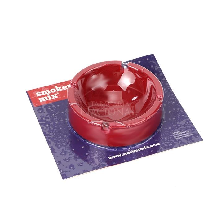 Cinzeiro de Silicone para 4 Cigarros Smoker Mix - Vermelho