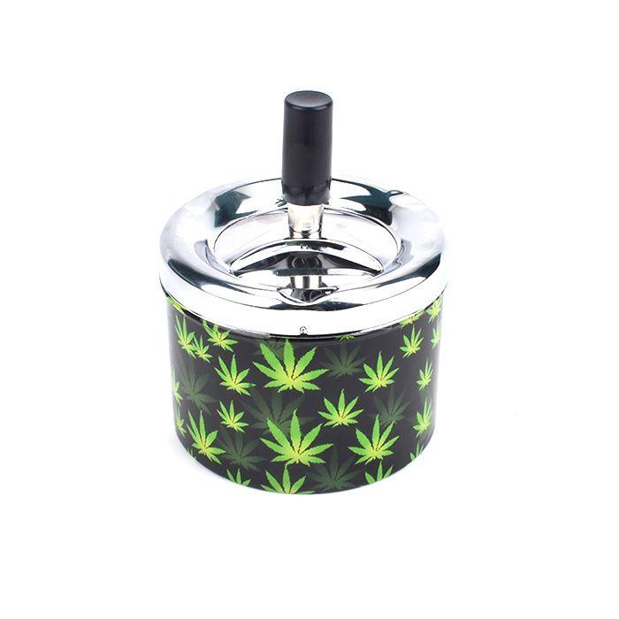 Cinzeiro para Cigarro de Alumínio - Hemp Folha Verde