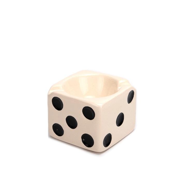 Cinzeiro para Cigarro de Cerâmica Pequeno - Dado Branco