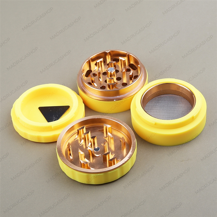 Dichavador de Metal e Silicone Grande - Amarelo