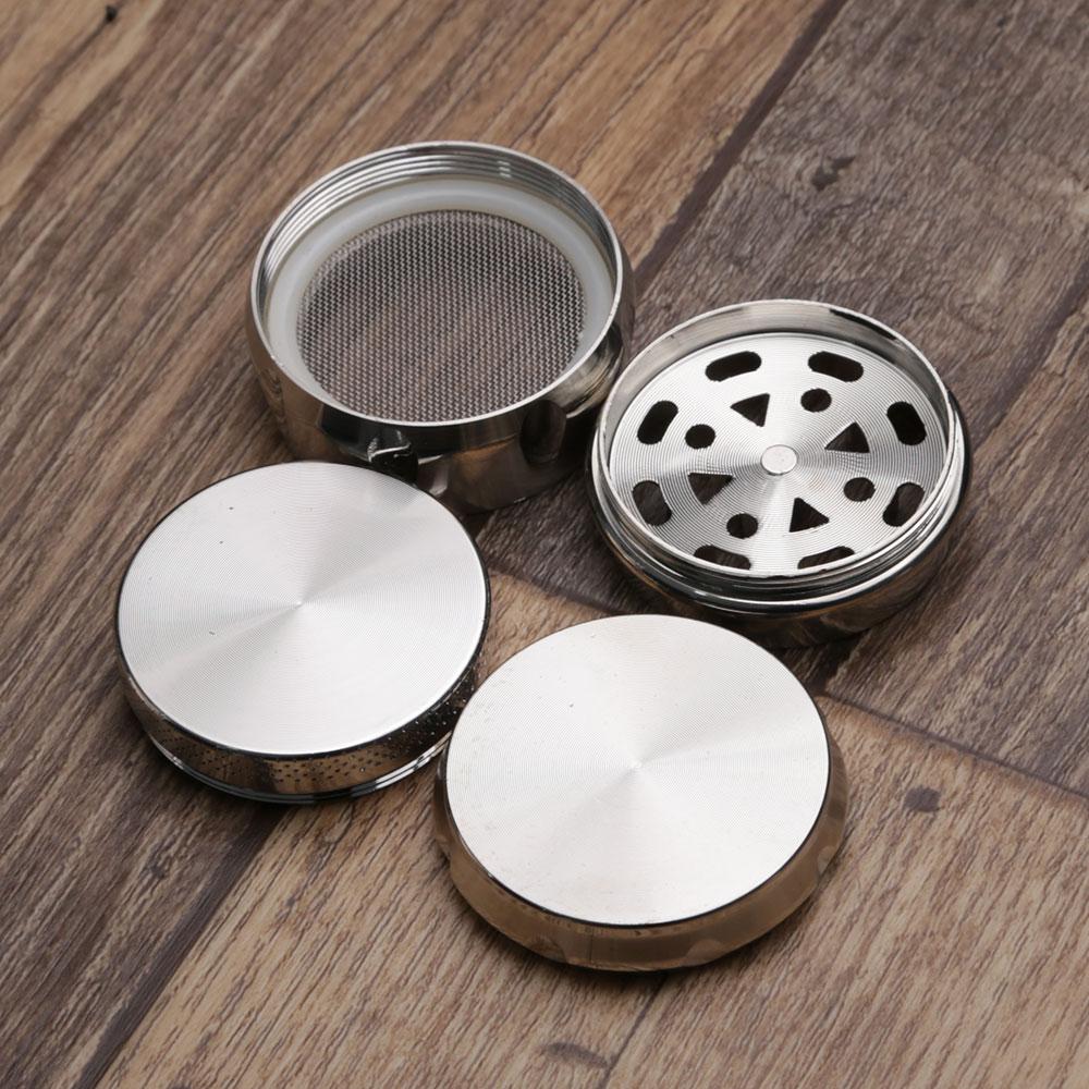 Dichavador de Metal Escovado Tambor - Prata