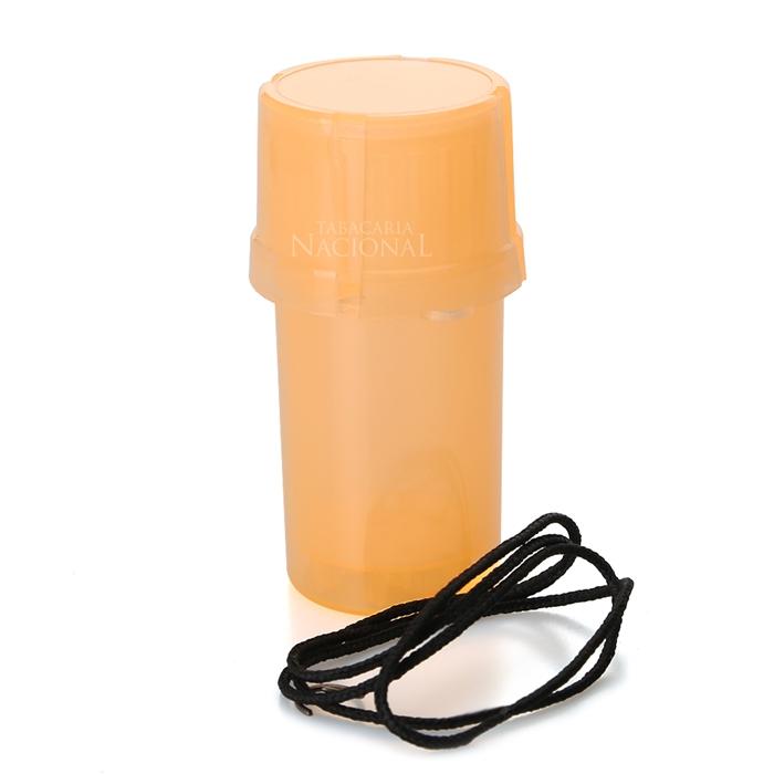 Dichavador de Plástico MedTainer com Cordão - Laranja