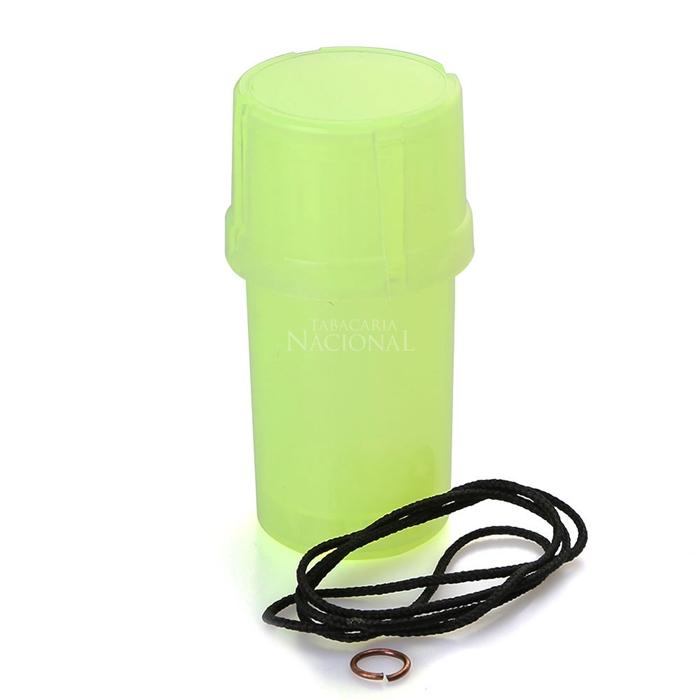 Dichavador de Plástico MedTainer com Cordão - Verde´
