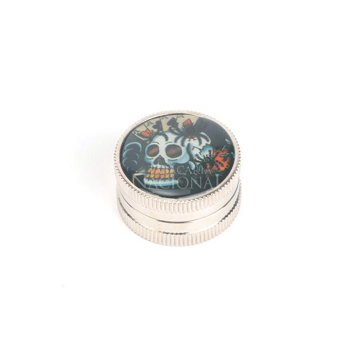 Dichavador de Plástico Metalizado DPL12 - Caveira Cartas