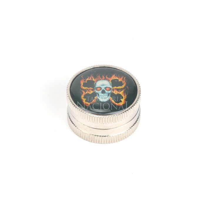 Dichavador de Plástico Metalizado DPL12 - Crânio Preto´