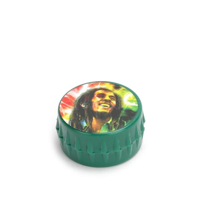 Dichavador Tampinha Verde - Bob Marley Claro´´
