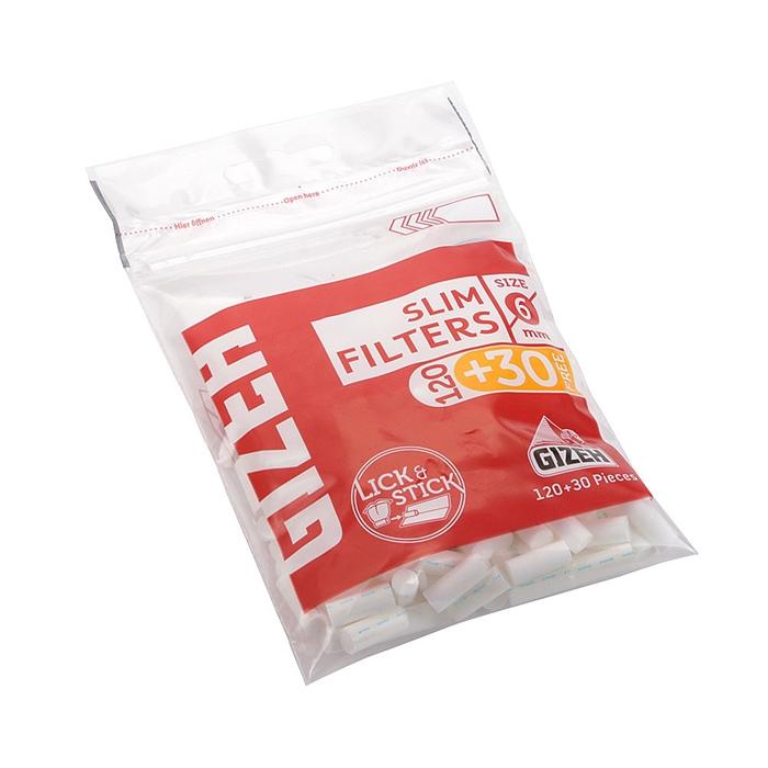 Filtro para Cigarro Gizeh Slim 6mm (Pacote com 150)