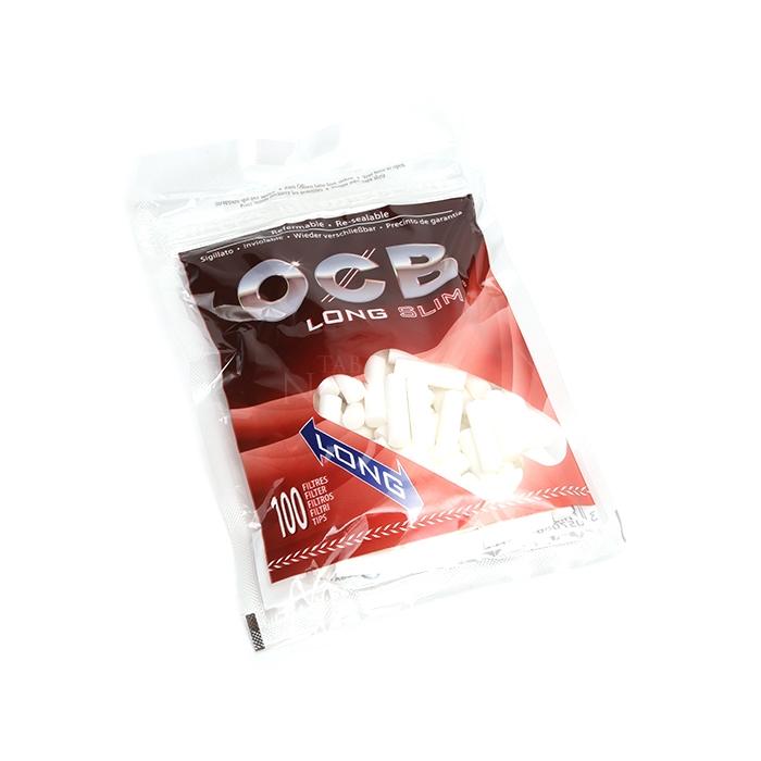 Filtro para Cigarro OCB Long Slim de 6mm (Pacote com 100)