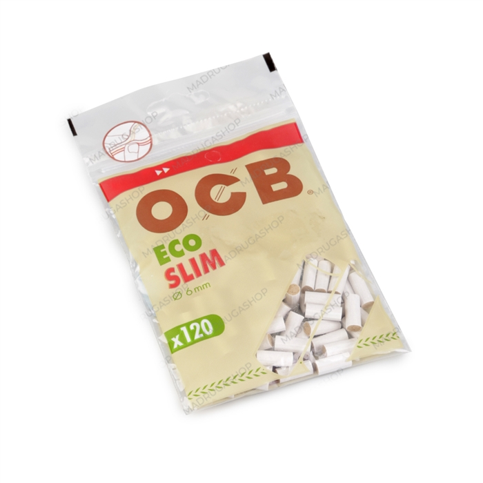 Filtro para Cigarro OCB Orgânico (Eco) Slim de 6mm (Pacote com 120)