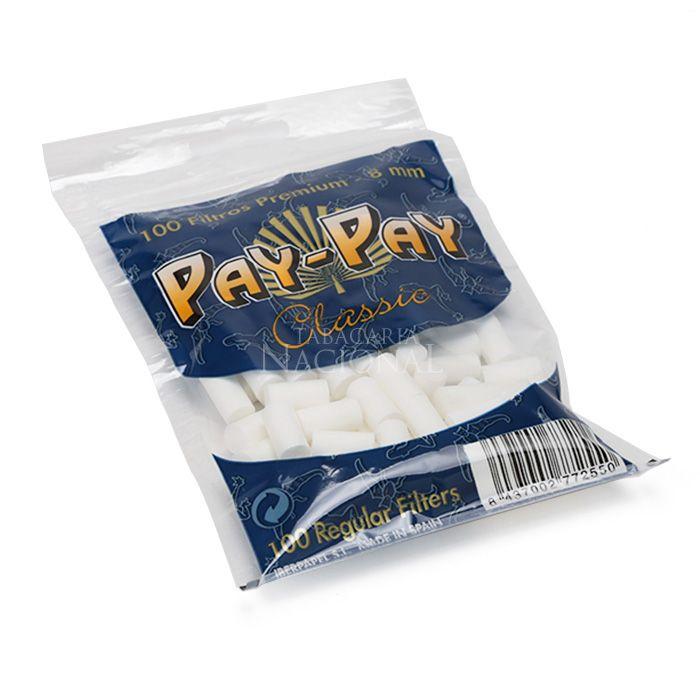 Filtro para Cigarro Pay Pay Regular de 8mm (Pacote com 100)