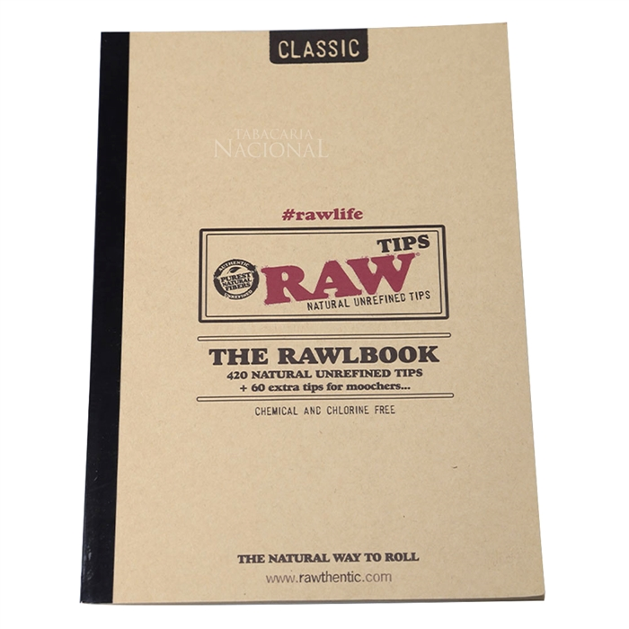 Filtro para Cigarro RAW - TheRawlBook (Livro com 480)