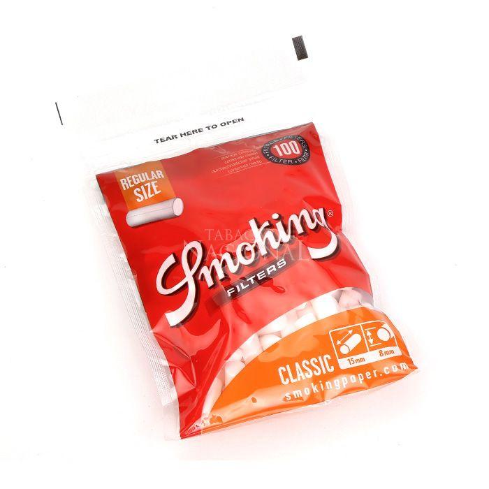 Filtro para Cigarro Smoking de 8mm (Pacote com 100)