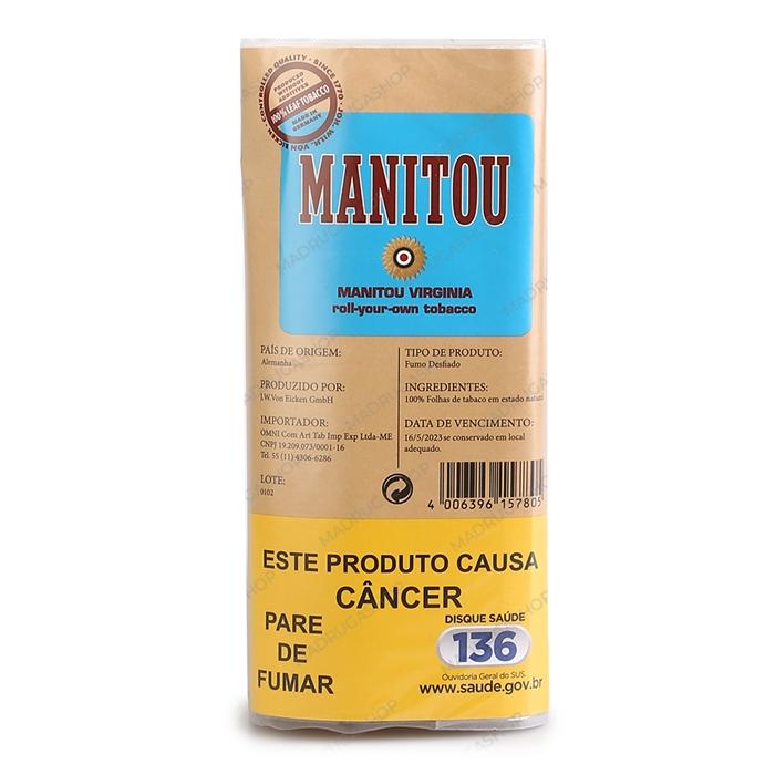 Fumo para Cigarro Manitou Virginia Blue (Forte) - Pacote 40g
