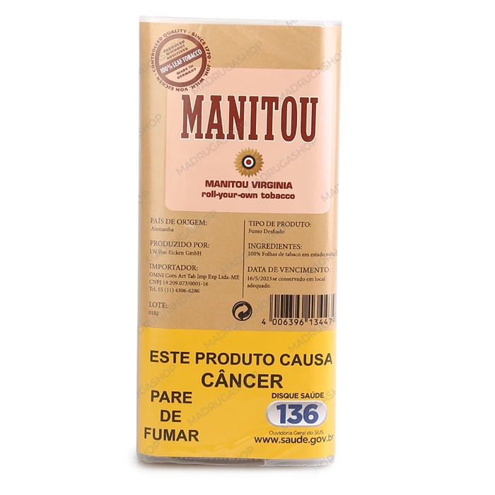 Fumo para Cigarro Manitou Virginia Pink (Suave) - Pacote 40g