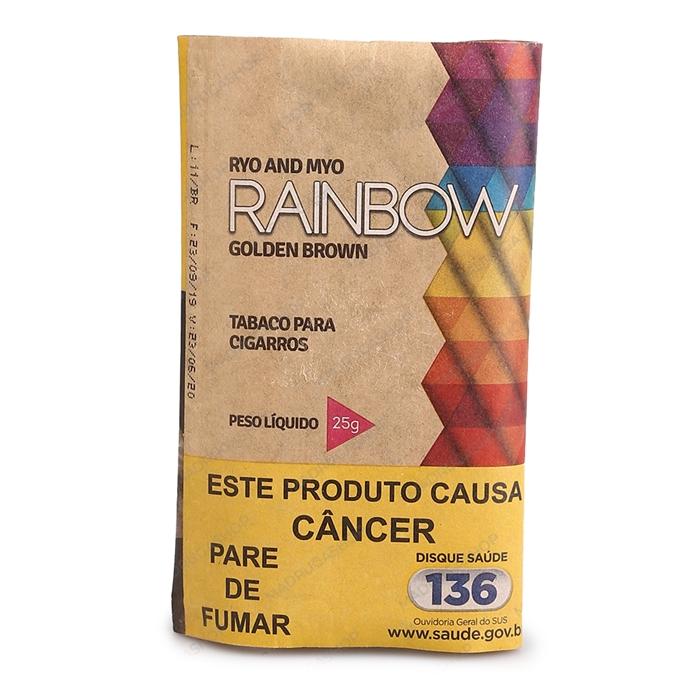 Fumo para Cigarro Rainbow Golden Brown (Orgânico) - Pacote 25g