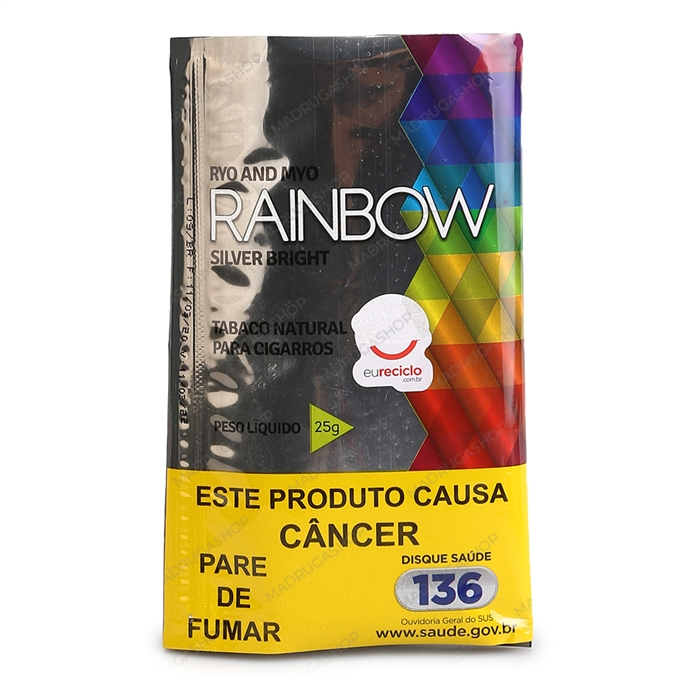 Fumo para Cigarro Rainbow Silver Bright - Pacote - Pacote 25g