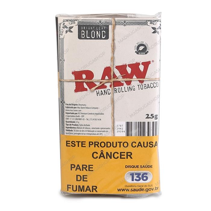 Fumo para Cigarro RAW Blond - Pacote 25g