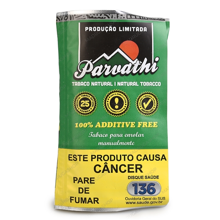 Fumo para Cigarro - Tabaco para Cigarro Parvathi Natural