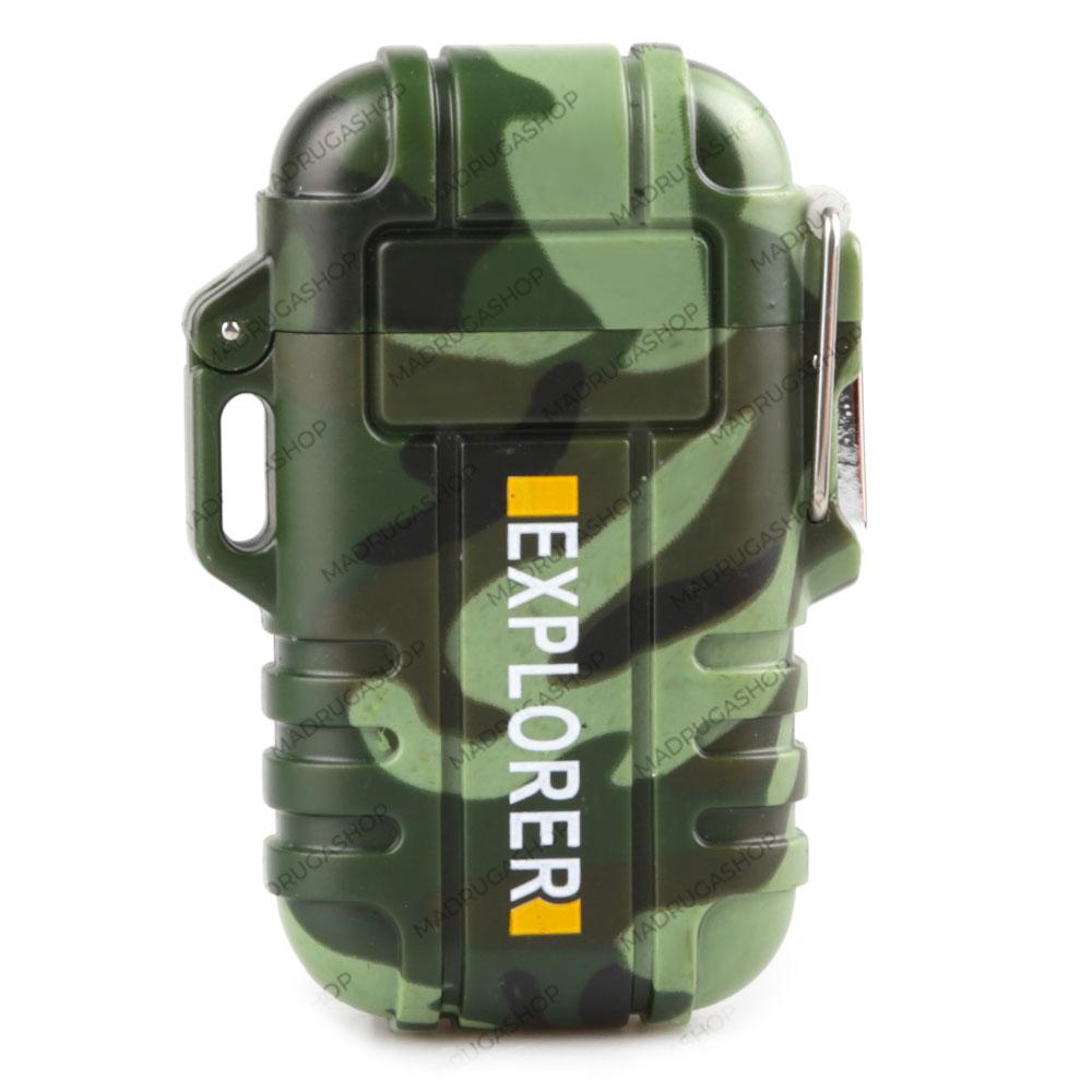 Isqueiro Eletronico Explorer F12 - Camuflado
