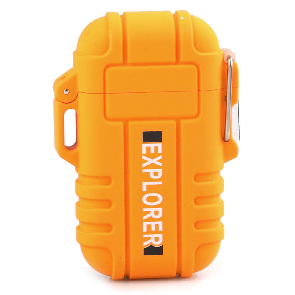 Isqueiro Eletronico Explorer F12 - Laranja