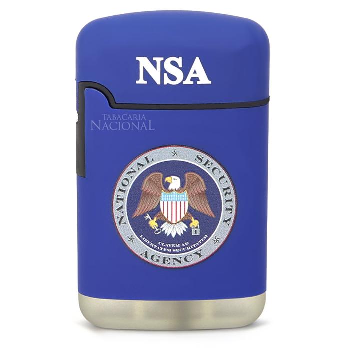 Isqueiro Maçarico V-Fire Easy Torch 8R American Collection - NSA Azul (1 Chama)