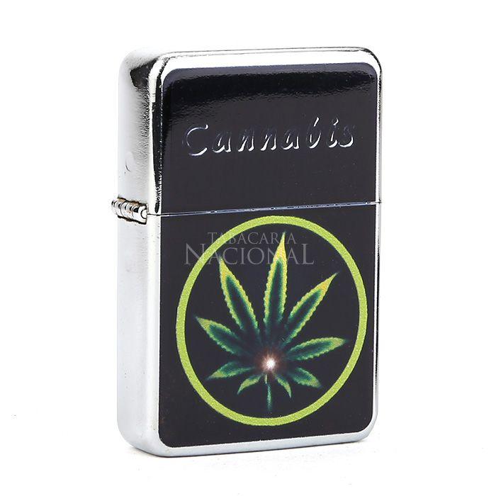 Isqueiro Star Cromado - Cannabis 2 (1 Face)